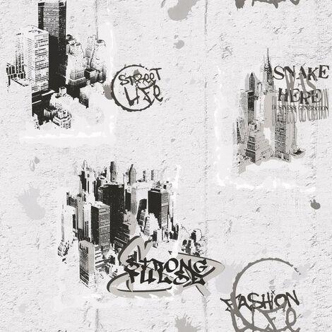 Papier peint Graffiti AS Création Dekora Natur 6 6840-11 BRICOFLOR