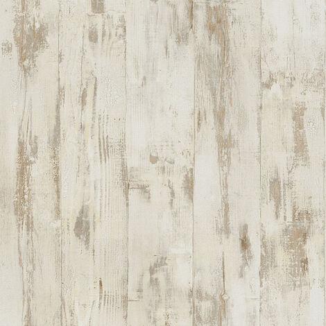 Papier peint imitation bois Tapisserie imitation bois papier peint couloir Beige/crème Marron Orange 961391 - 10,05 x 0,53 m