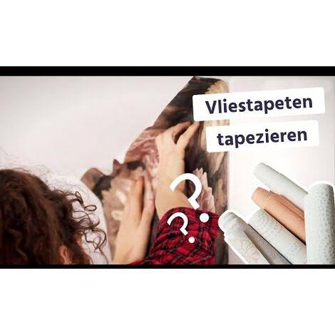 Papier peint imitation carrelage | Papier peint taupe, beige & gris métallique | Papier peint cuisine & salle de bain vinyle 374063 - 10,05 x 0,53 m