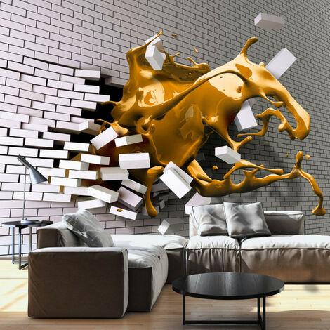 Papier peint - Inspiration de safran 100x70
