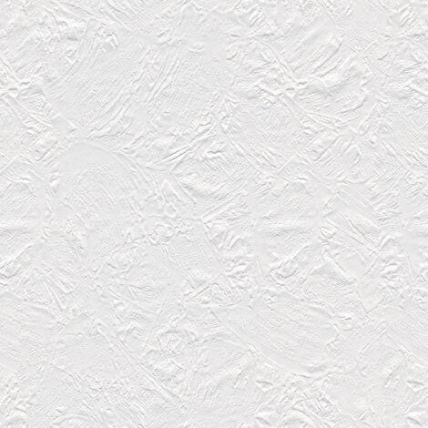 Papier peint intissé 141415 Meistervlies 2020 - Papier peint à peindre Blanc - 10,05 x 0,53 m