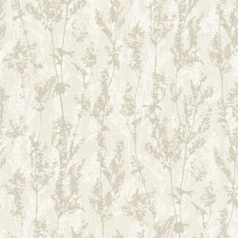 Papier peint intissé 327172 Borneo - Papier peint palmier Beige/Crème Gris - 10,05 x 0,53 m
