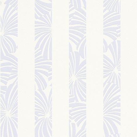 Papier peint intissé 327602 Esprit 12 - Papier peint motif Bleu Beige/Crème Blanc - 10,05 x 0,53 m