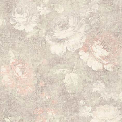Papier peint intissé 336042 Secret Garden - Papier peint fleuri Beige/Crème Marron Rouge - 10,05 x 0,53 m