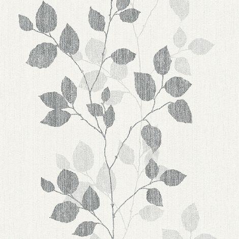 Papier peint intissé 347614 Happy Spring - Papier peint moderne Gris Noir/Anthracite Blanc - 10,05 x 0,53 m