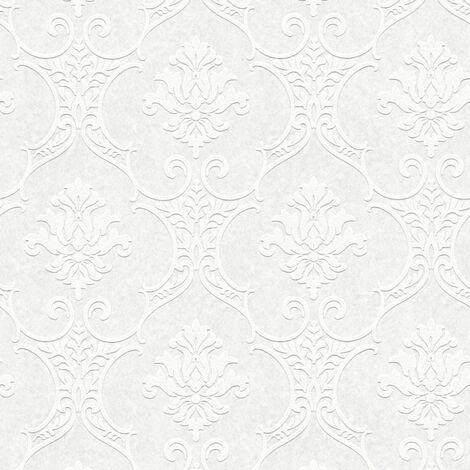 Papier peint intissé 354761 Meistervlies 2020 - Papier peint à peindre Blanc - 10,05 x 0,53 m