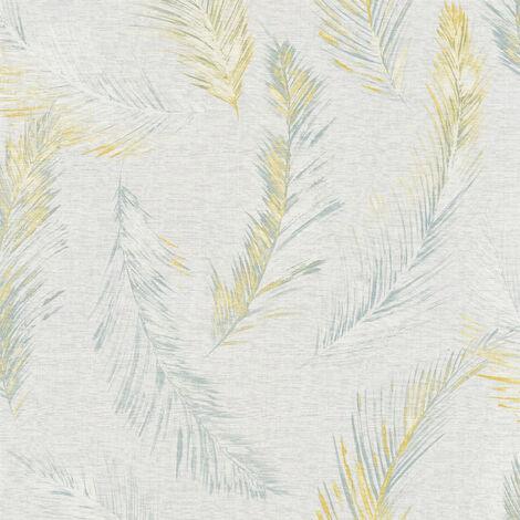 Papier peint intissé 358961 Four Seasons - Papier peint motif Jaune Gris - 10,05 x 0,53 m