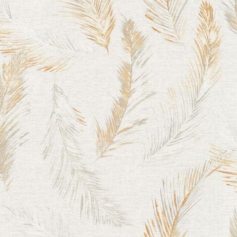 Papier peint intissé 358963 Four Seasons - Papier peint motif Beige/Crème Gris Orange/Terre cuite - 10,05 x 0,53 m