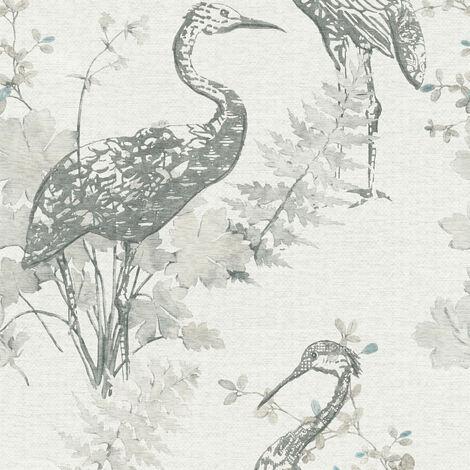 Papier peint intissé 360922 Four Seasons - Papier peint motif Beige/Crème Bleu Gris - 10,05 x 0,53 m