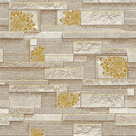 Papier peint intissé 362671 Sale - Papier peint carreaux de ciment & carrelage Beige/Crème Marron Argent - 10,05 x 0,53 m