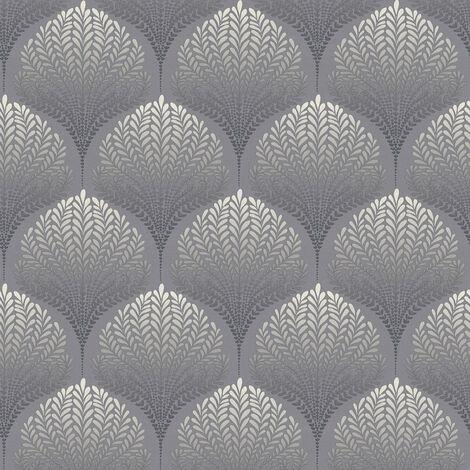 Papier peint intissé 363101 Palila - Papier peint motif Gris Noir/Anthracite Blanc - 10,05 x 0,53 m