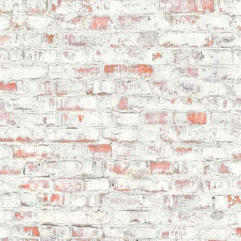 Papier peint intissé 364911 Authentic Walls 2 - Papier peint vintage Gris Rouge - 10,05 x 0,53 m
