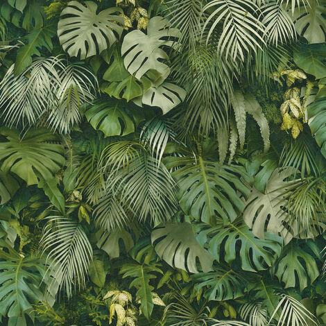 Papier peint intissé 372802 Greenery - Papier peint palmier Vert - 10,05 x 0,53 m