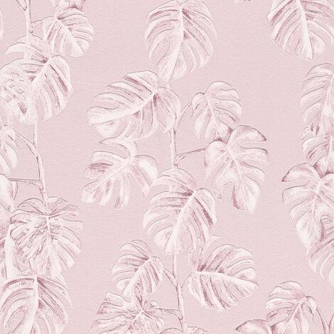 Papier peint intissé 372811 Greenery - Papier peint palmier Rose - 10,05 x 0,53 m