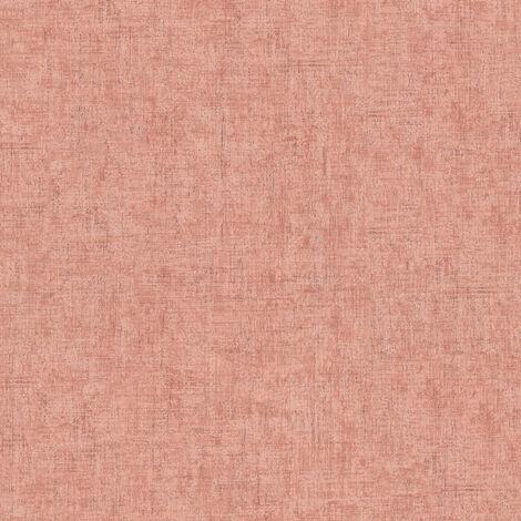 Papier peint intissé 373343 Greenery - Papier peint uni Orange/Terre cuite Rose Rouge - 10,05 x 0,53 m