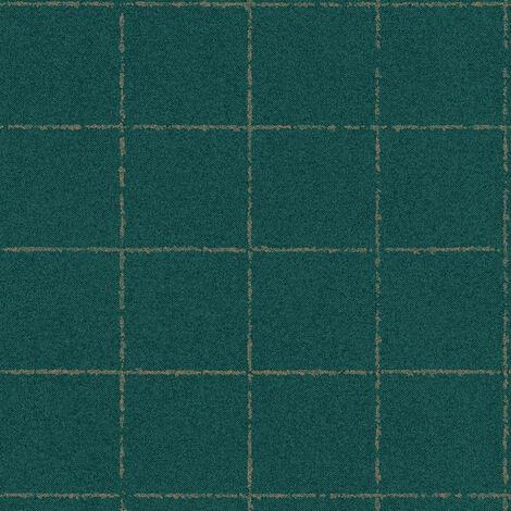 Papier peint intissé 375511 New Elegance - Papier peint carreaux de ciment & carrelage Vert Argent - 10,05 x 0,53 m