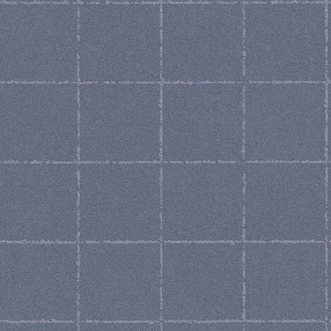 Papier peint intissé 375512 New Elegance - Papier peint carreaux de ciment & carrelage Bleu Gris - 10,05 x 0,53 m