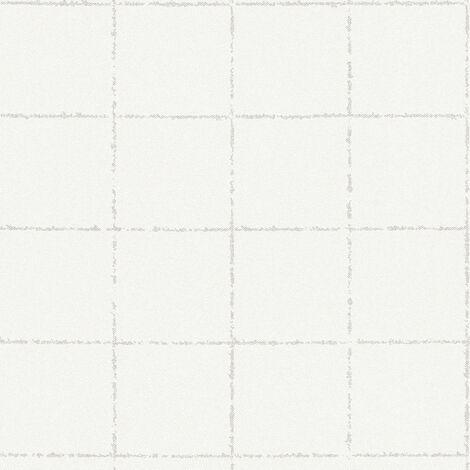 Papier peint intissé 375515 New Elegance - Papier peint carreaux de ciment & carrelage Beige/Crème Blanc - 10,05 x 0,53 m