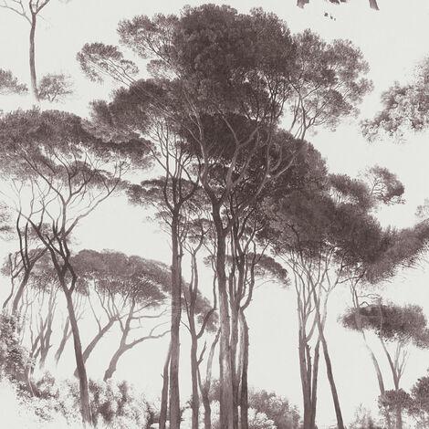 Papier peint intissé 376511 History of Arts - Waldtapete Noir/Anthracite Blanc - 10,05 x 0,53 m