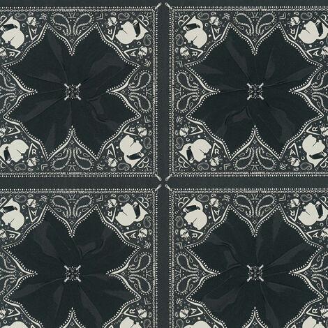 Papier peint intissé 378452 Karl Lagerfeld - Papier peint original Noir/Anthracite Blanc - 10,05 x 0,53 m