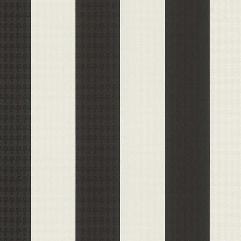 Papier peint intissé 378492 Karl Lagerfeld - Papier peint design Noir/Anthracite Blanc - 10,05 x 0,53 m
