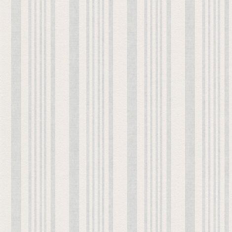 Papier peint intissé 571014 Meistervlies 2020 - Papier peint à peindre Blanc - 10,05 x 0,53 m