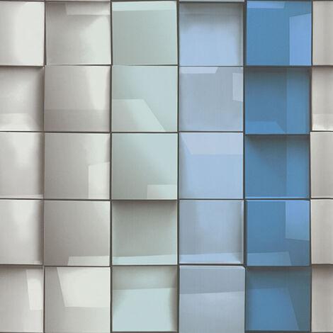 Papier peint intissé 960201 Move Your Wall - Papier peint motif Bleu Gris - 10,05 x 0,53 m