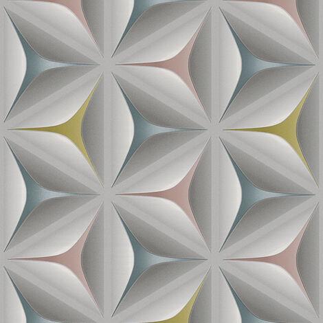 Papier peint intissé 960422 Move Your Wall - Papier peint design Multicolore Gris - 10,05 x 0,53 m