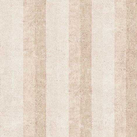 Papier peint intissé 960785 Bohemian Burlesque - Papier peint rayures Beige/Crème Argent - 10,05 x 0,53 m