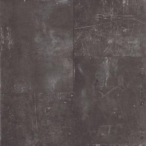 Papier peint intissé 962231 New England 2 - Papier peint motif Noir/Anthracite - 10,05 x 0,53 m