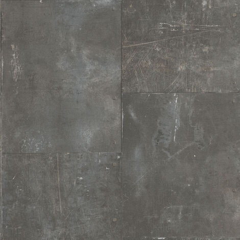 Papier peint intissé 962232 New England 2 - Papier peint motif Noir/Anthracite - 10,05 x 0,53 m