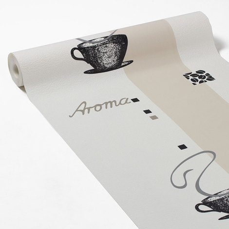 Papier Peint Intisse Aroma Rayure Blanc 77590