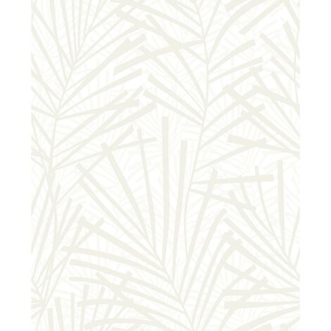 Papier Peint Intissé Aura Palme Design Vinyle Expansé 1005 x 52cm Beige