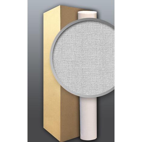 Papier peint intissé blanc à peindre texture EDEM 80301BR60 décorative de tissu grossier jute double 106 cm 4 x 26,50 m2