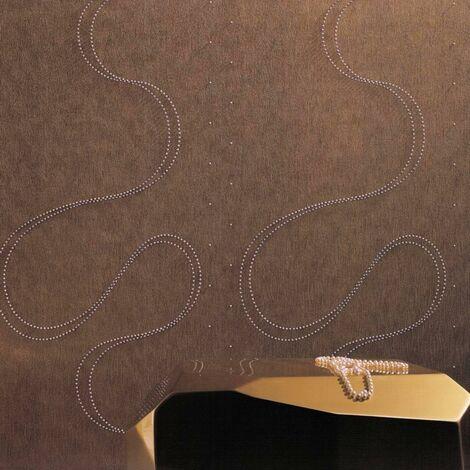 Papier Peint Intissé Blanc Ondulation - Strasse, Pierre, Fluctué - Idéalement Pour la Chambre à Coucher - Colani Visions - Fabriqué en Allemagne - 10,05 x 0,70m - 53379