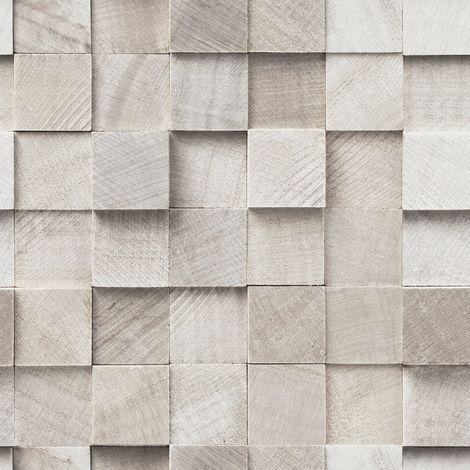 Papier peint intissé Bois Taupe 10 m x 52 cm