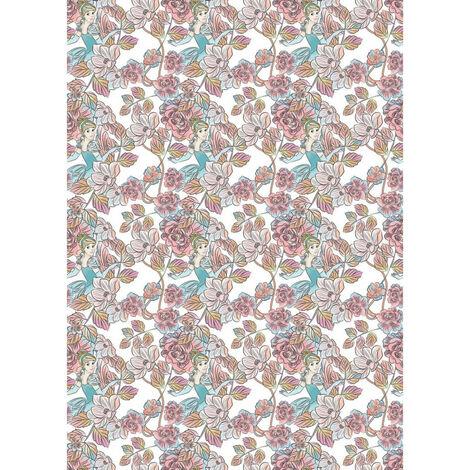 Papier peint intissé Cendrillon Motif floral Disney 200 X 280 CM