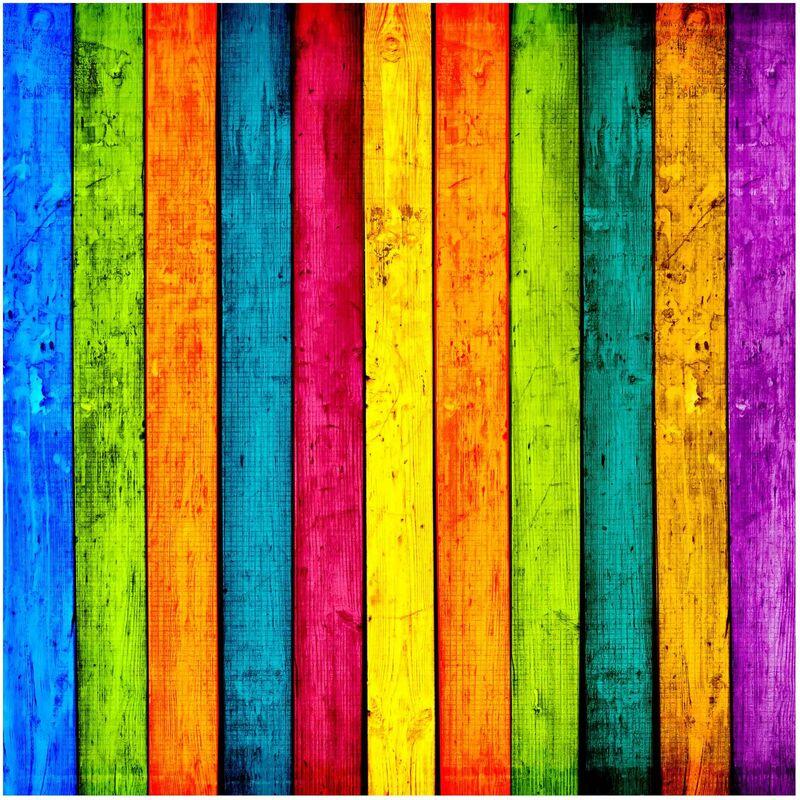 Papier peint intissé   Colourful Palisade   Mural Carré