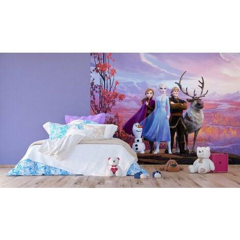 Papier Peint Intissé Disney La Reine des Neiges 2 - modèle dans la forêt 360 cm x 270 cm
