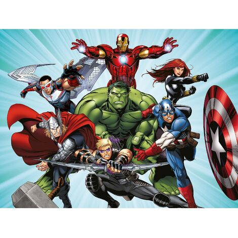 Papier peint intissé - Disney Marvel Avengers prêt à combattre - 360 cm x 270 cm