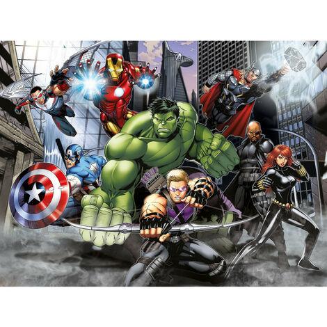 Papier peint intissé - Disney Marvel - la bande Avengers au combat - 360 cm x 270 cm