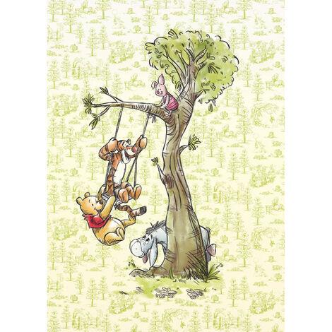 Papier Peint intissé Disney Winnie l'ourson et ses amis font de la balançoire 200 cm x 280 cm