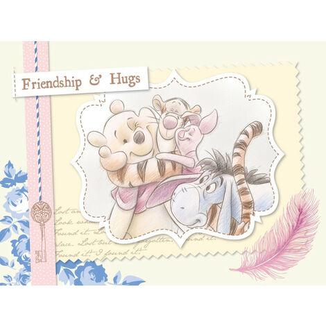 Papier Peint Intissé - Disney Winnie l'ourson - modèle câlin entre amis 360 cm x 270 cm