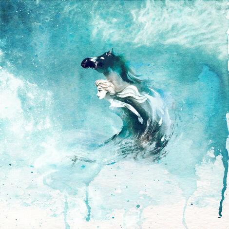 Papier Peint Intissé La Reine des Neiges 2 Disney Elsa et l'esprit de l'eau 250 cm x 250 cm