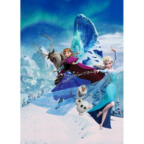 Papier Peint Intissé La Reine des Neiges Disney La magie d'Elsa 200 cm x 280 cm