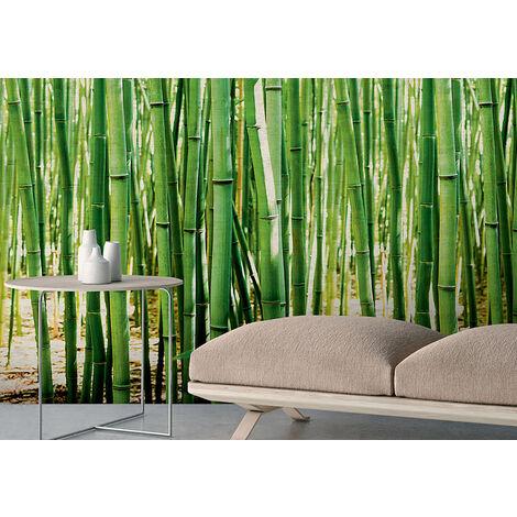 Papier peint intissé les bambous Vert