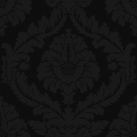 Papier Peint Intissé Luxe Barock Noir 10 M X 52 Cm