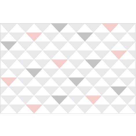 Papier peint intissé - no.YK65 Triangles Grey White Pink - Mural Large