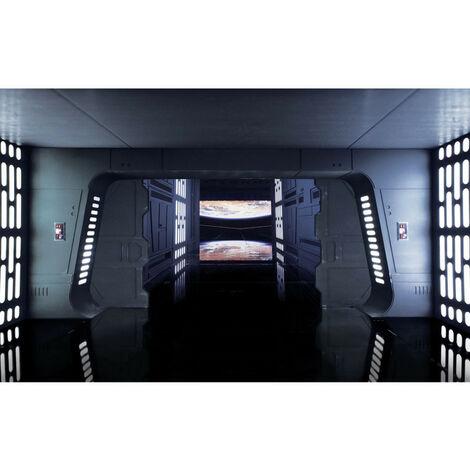 Papier Peint intissé panoramique Rogue One : A Star Wars Story L'Etoile de la mort - Star Wars vaisseau vue sur planetes 400X250CM