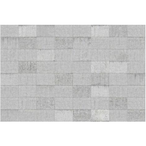 Papier peint intissé Premium - Conctrete Wallpaper - Grey Concrete Block Wall - Mural Large